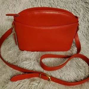 Vintage Coach regis leather made in Italy red